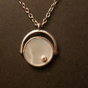 Silpada Mother of Pearl Coin Necklace